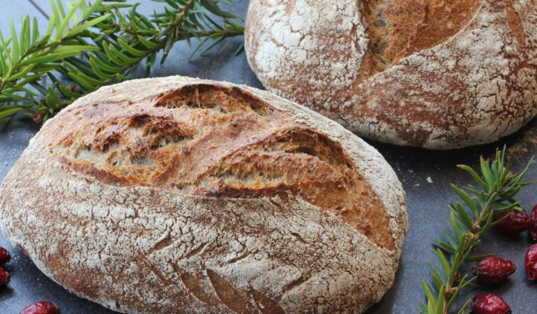 bröd med hela korn recept